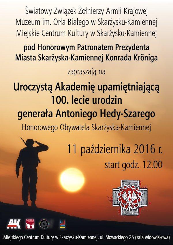 plakat_100_lecie_urodzin_generala_hedy_szarego