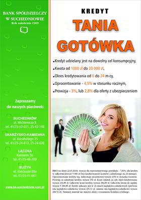 BS Suchedniow - kredyt tania gotówka